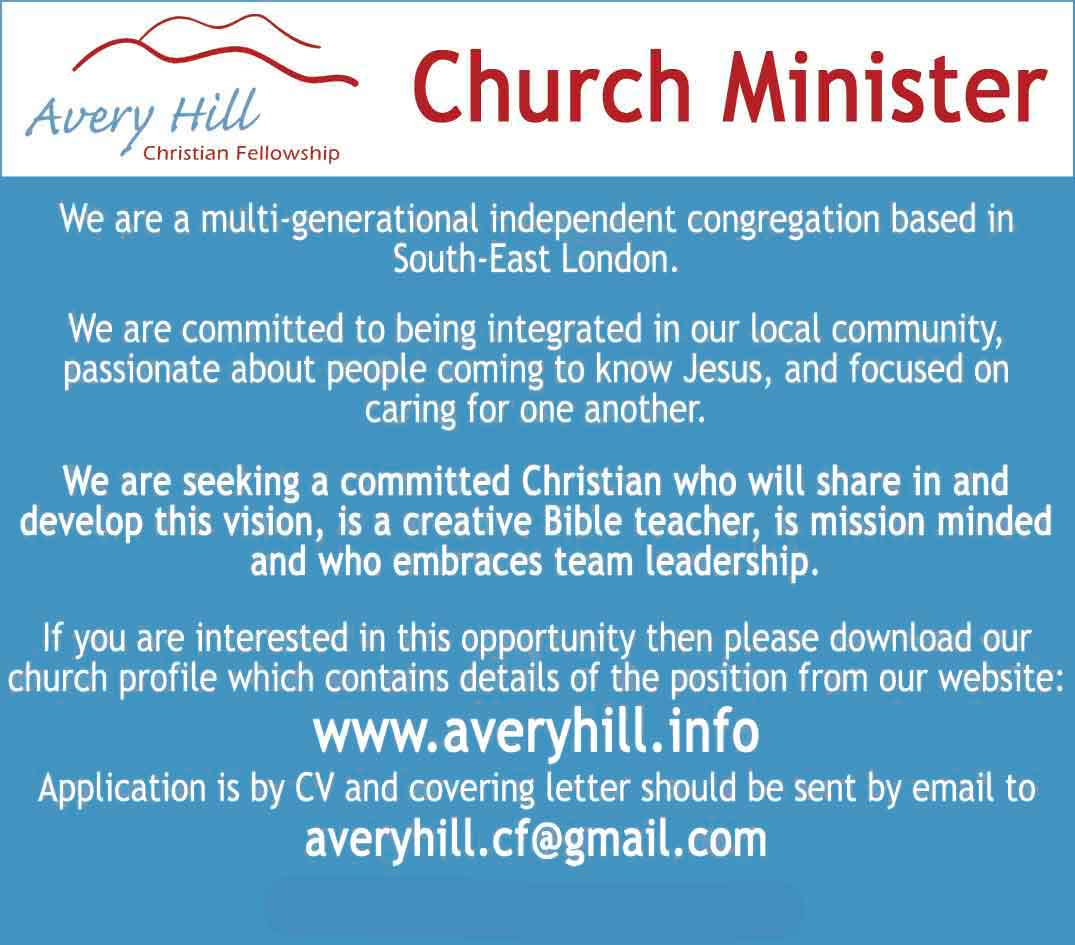 AHCF Church Minister Required