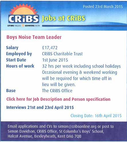 Jobs at CRIBS