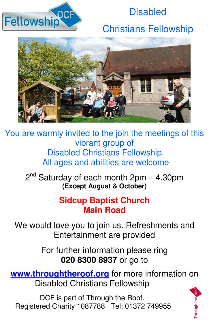 Disabled Christians Fellowship - Sidcup Baptist Church