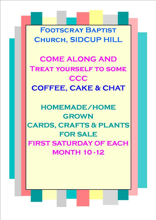 Coffee Morning at Foots Cray Baptist Church