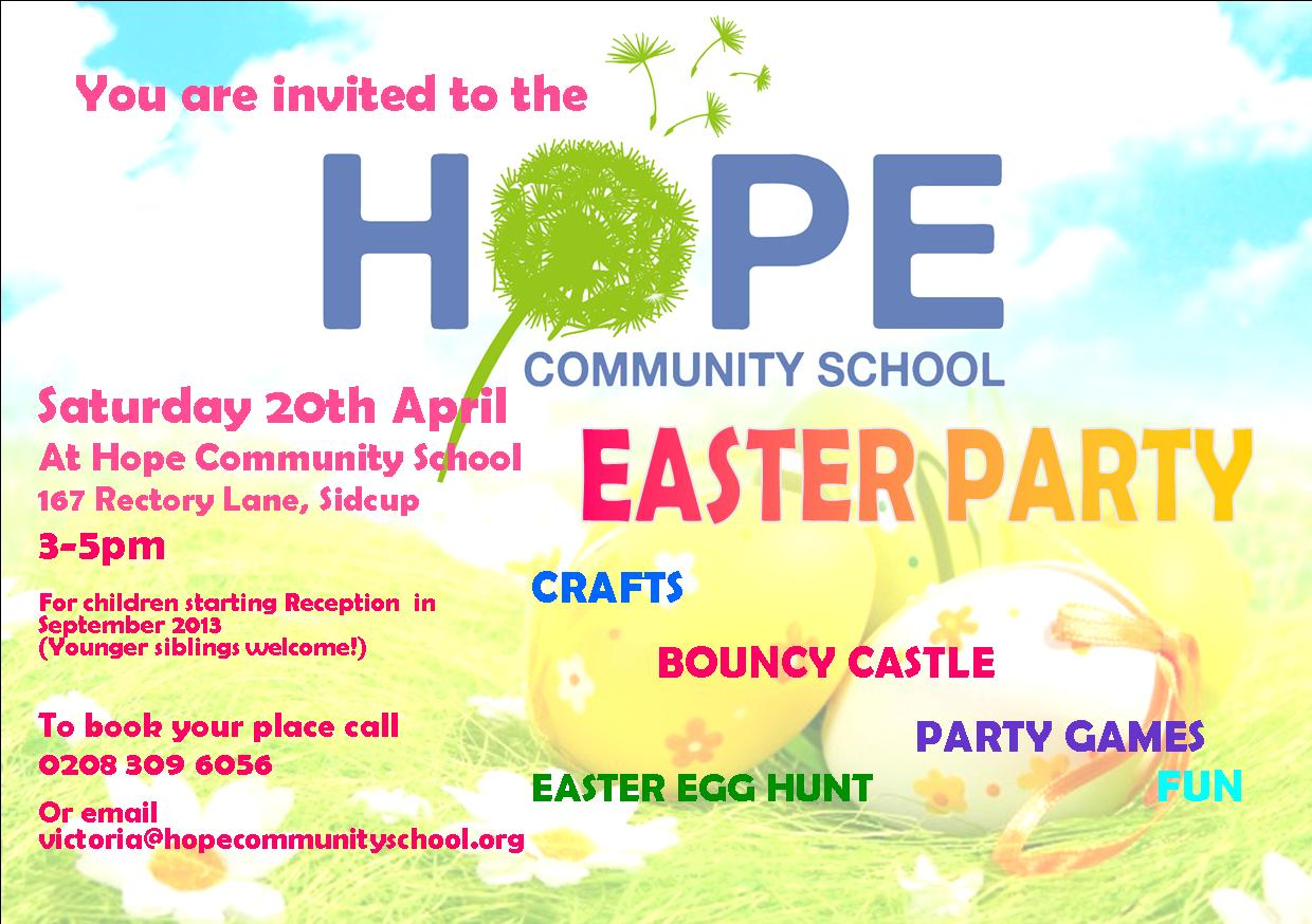 Hope Community School- Party