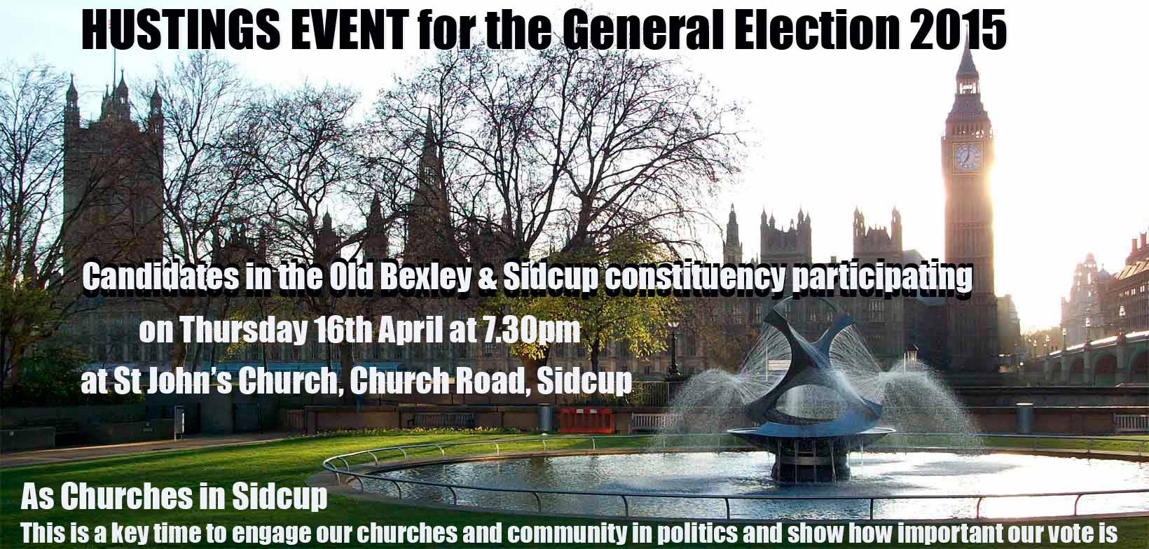 Churches in Sidcup Hustings Event