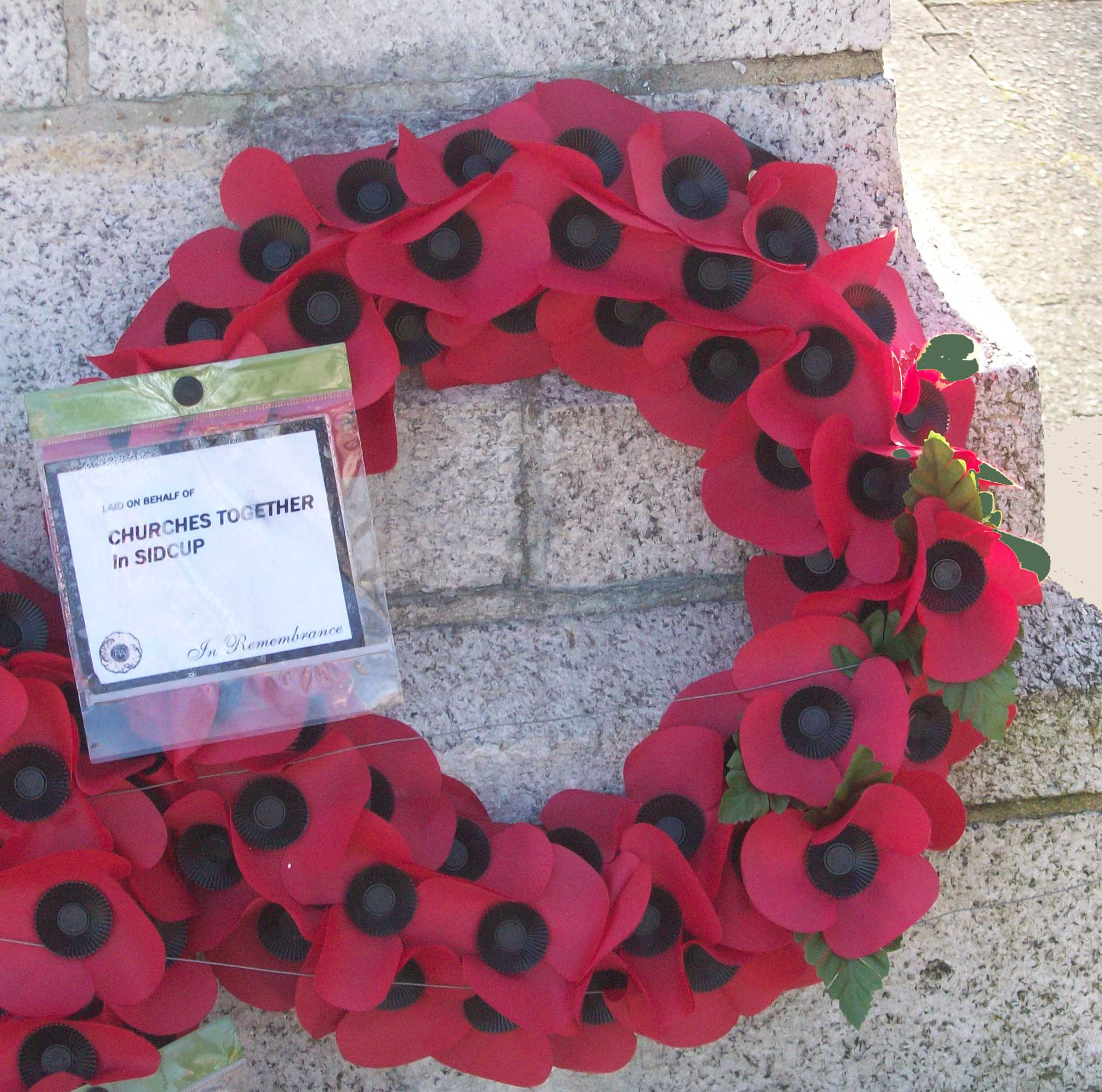 Remembrance Ceremony at The  Green, Sidcup Place on Sunday 9th November