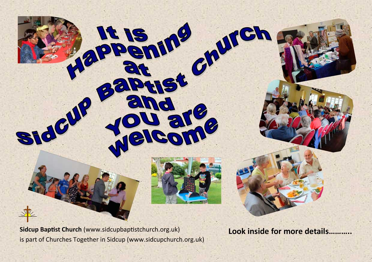 Sidcup Baptist Church Monthly Events