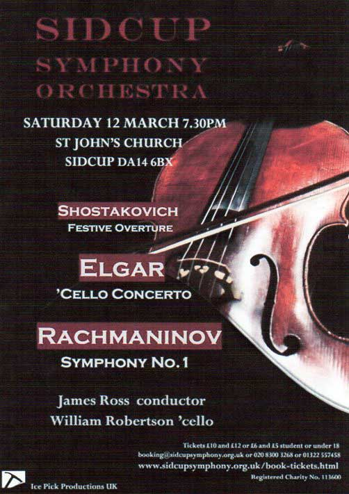 SIDCUP SYMPHONY ORCHESTRA at St John's Church, Sidcup