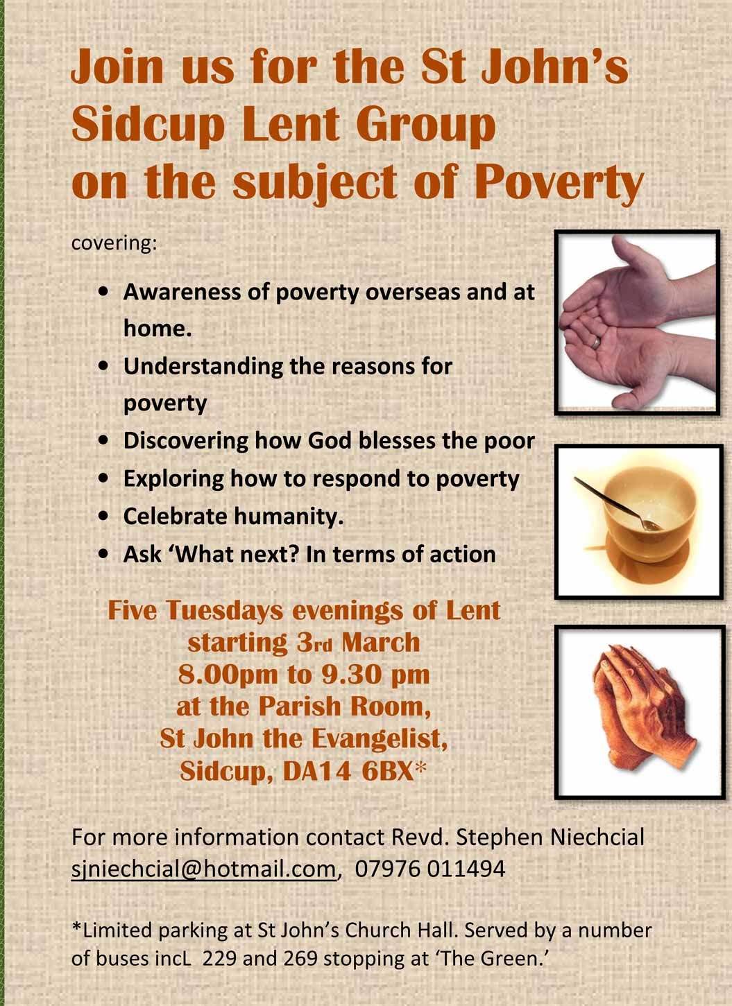 Lent Course at St.Johns Church, Sidcup