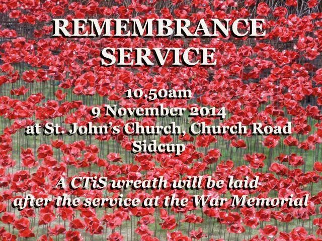 Remembrance Service at St. John's, Sidcup