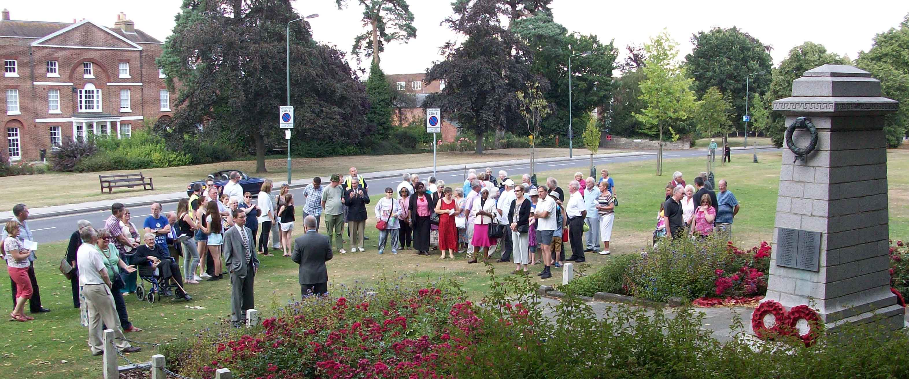 Start of WW1 Memorial, Sidcup